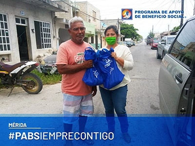 PABS entrega de despensas Mérida