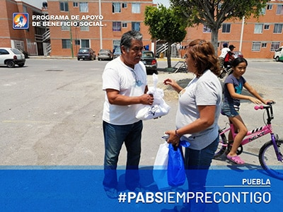 PABS entrega de despensas Puebla