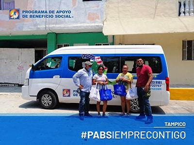 PABS entrega de despensas Tampico